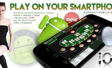 Bermain judi poker online dengan Android
